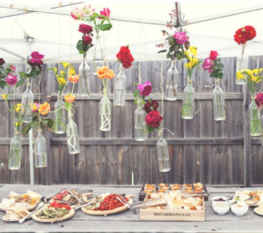 outdoor party flowers